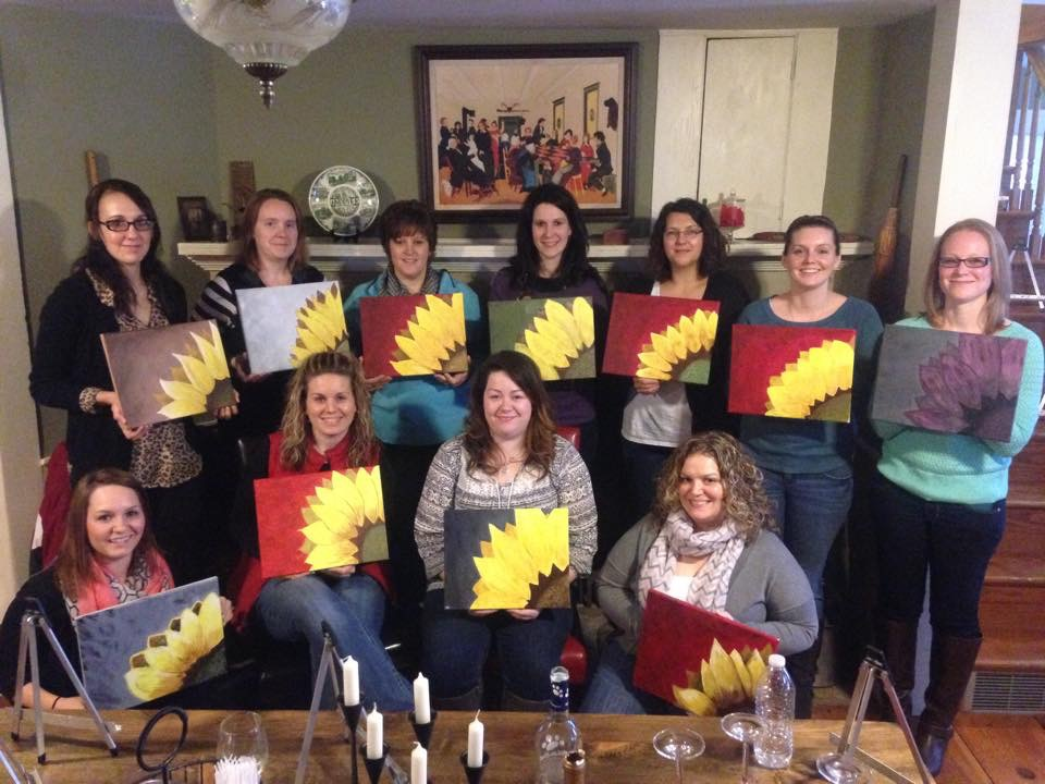 Painting and wine class mafiamedia for Sip and paint houston